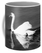 Swan In Motion On A Pond Coffee Mug