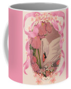 Swan In Pink Card Coffee Mug