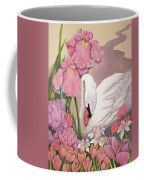 Swan In Pink Coffee Mug