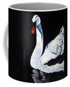 Swan In Shadows Coffee Mug