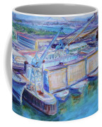 Swan Island Poetry - Large Original Contempory Impressionist Painting Coffee Mug