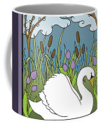 Swan On The River Coffee Mug