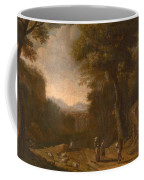 Swanevelt, Herman Van Woerden, 1603 - Paris, 1655 Landscape With Travellers And A Shepherd 1635 - 16 Coffee Mug