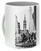 Swann Memorial Fountain In Black And White Coffee Mug