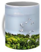 Swans In Flight Coffee Mug