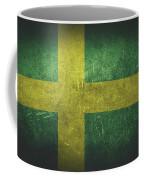Sweden Distressed Flag Dehner Coffee Mug