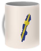 Sweden Map Art With Flag Design Coffee Mug