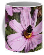 Sweet Bee On Pink Cosmos - Digital Art Coffee Mug