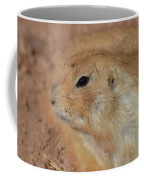 Sweet Profile Of A Prairie Dog Playing In Dirt Coffee Mug