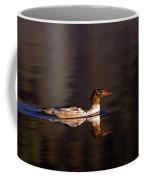 Swimming Female Merganser - Odell Lake Oregon Coffee Mug