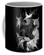 Swimming In Black And White - Abstract Coffee Mug