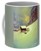 Switzerland Alps Grutschap Alpine Meadow Winter  Coffee Mug