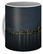 Sydney Downtown  With Opera House And Harbour Bridge At Night Coffee Mug