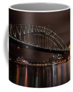 Sydney Harbor At Night With Train Coffee Mug
