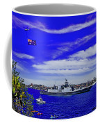 Sydney Harbour And Flying Flag Coffee Mug