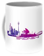 Sydney Skyline Purple Coffee Mug
