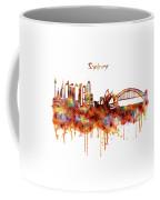 Sydney Watercolor Skyline Coffee Mug