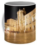 Syracuse, Sicily, Italy - Ortigia Downtown In Syracuse By Coffee Mug