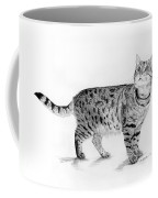 Tabby Cat Looking Up Coffee Mug