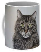 Tabby-lil' Bit Coffee Mug by Megan Cohen