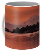 Tacoma Bay Mount Rainier Sunrise Coffee Mug
