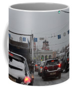 Taganskaya Square In Snow Coffee Mug
