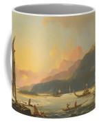 Tahitian War Galleys In Matavai Bay Coffee Mug