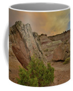Tail End Of Storm At Sunset Over Bentonite Site Coffee Mug