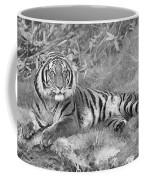 Takin It Easy Tiger Black And White Coffee Mug