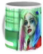 Talking To Harley Quinn - Aquarell Style Coffee Mug