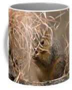 Tall Grasses Make Up A Fox Squirrels Coffee Mug by Joel Sartore