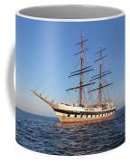 Tall Ship Anchored Off Penzance Coffee Mug