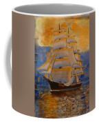 Tall Ship In The Sunset Coffee Mug