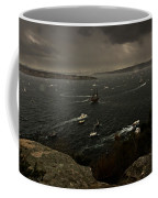 Tall Ships Heavy Rain And Wind In Sydney Harbour Coffee Mug