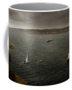 Tall Ships In The Entrance Of Sydney Harbour Coffee Mug