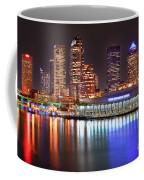 Tampa Skyline At Night Early Evening Coffee Mug