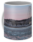 Tanana River With Pipeline - Early Morning Coffee Mug