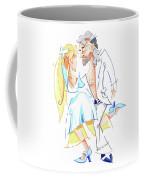 Tango Nuevo - Gancho Step - Dancing Illustration Coffee Mug