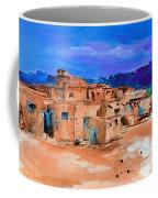 Taos Pueblo Village Coffee Mug by Elise Palmigiani
