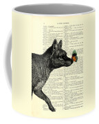 Tasmanian Tiger And Orange Butterfly Antique Illustration On Dictionary Page Coffee Mug