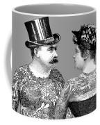 Tattooed Victorian Lovers Coffee Mug