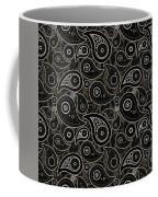 Taupe Brown Paisley Design Coffee Mug
