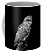 Tawny Frogmouth In Black And White Coffee Mug
