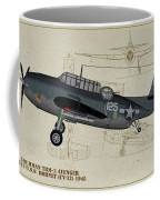 Tbm-3 Avenger Profile Art Coffee Mug