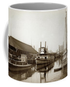 T.c. Walker Paddle Riverboat City Of Stockton Riverboat And Kath Coffee Mug