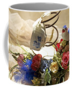Tea Cup Bed Coil Floral Coffee Mug