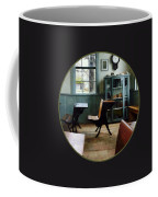 Teacher - One Room Schoolhouse With Clock Coffee Mug by Susan Savad
