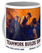 Teamwork Builds Ships Coffee Mug by War Is Hell Store