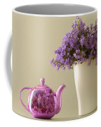 Teapot And Flowers In A Vase Coffee Mug