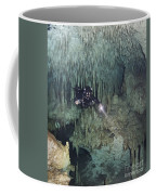 Technical Diver In Cave System, Mexico Coffee Mug